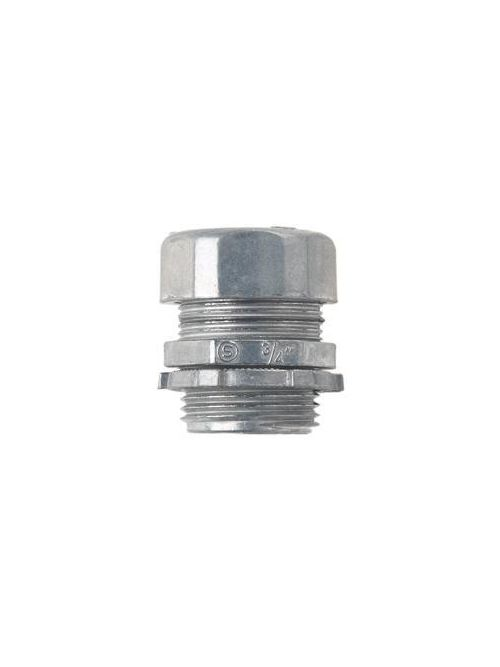 Crouse-Hinds Series 1653DC 10/Pack 1-1/4 Inch Die-Cast Zinc Insulated Compression Straight EMT Connector