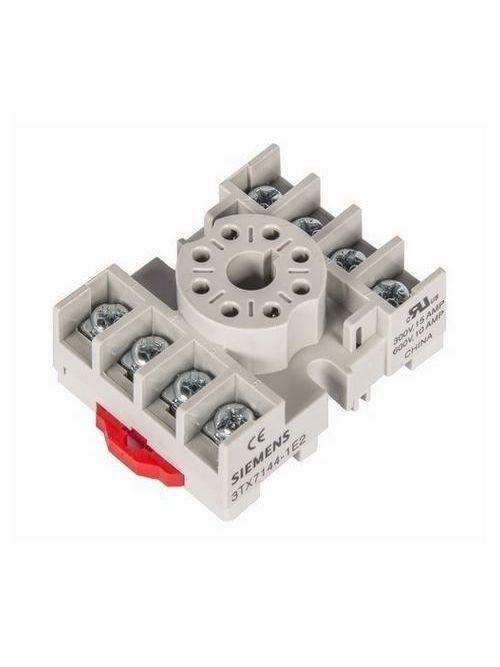 Siemens Industry 3TX7144-1E2 240 VAC 8-Pin Din Rail Mount Screw Terminal Plug-In Relay Socket