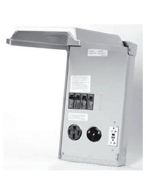 Midwest Electric Products U075CTL010 120/240 Volt 100 Amp Galvanized Steel Unmetered Power Outlet
