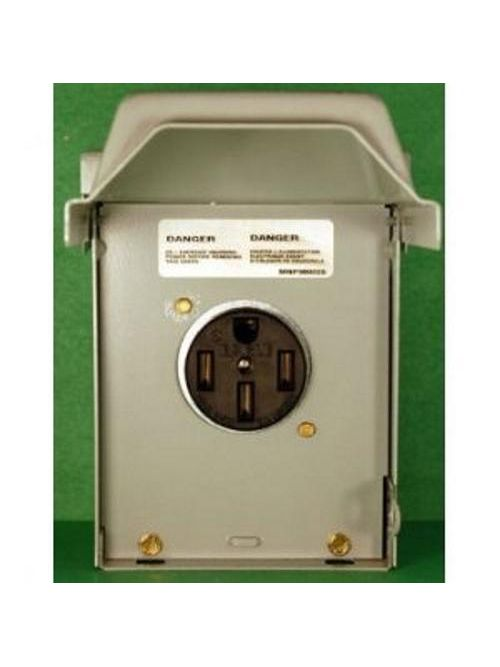 Midwest Electric Products U054 120/240 Volt 50 Amp Galvanized Steel Unmetered Power Outlet