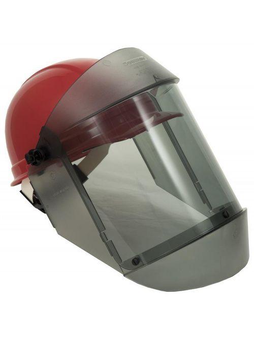 Oberon 21AGR12AF-C+500 12 CAL Deluxe True Color Grey Arcshield w/ Red Ratchet Hard Hat