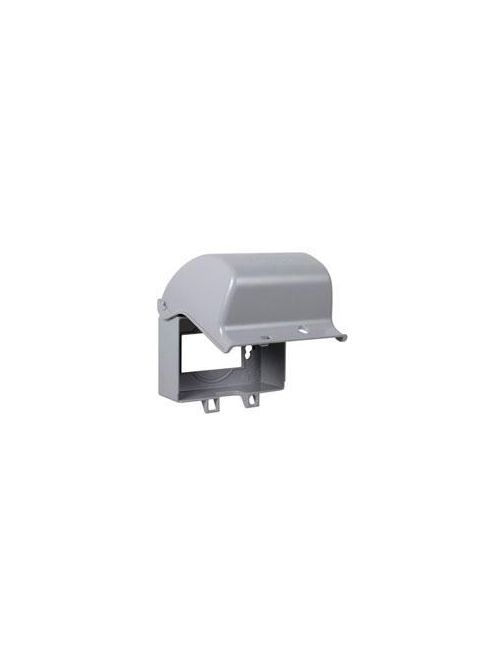 TayMac Corp MX3300 1-Gang Gray Die-Cast Metal Horizontal Mount Weatherproof While-In-Use Device Cover