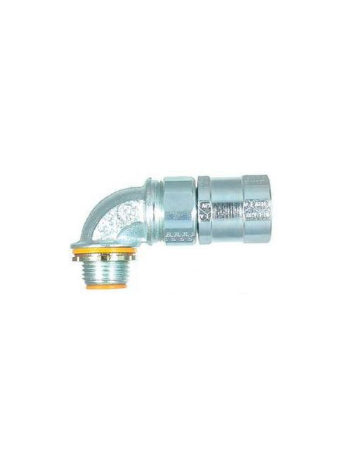 American Fittings FLX5090B 1/2 Inch 90 Degrees Insulated FMC Connector