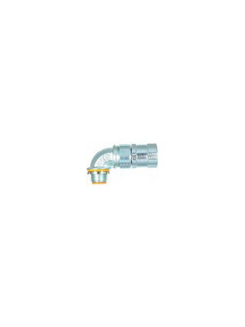American Fittings FLX7590B 3/4 Inch 90 Degrees Insulated FMC Connector