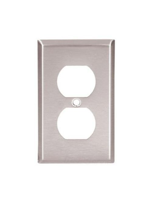 Eaton Wiring Devices 93901-BOX 1-Gang 302/304 Stainless Steel Medium Duplex Receptacle Wallplate