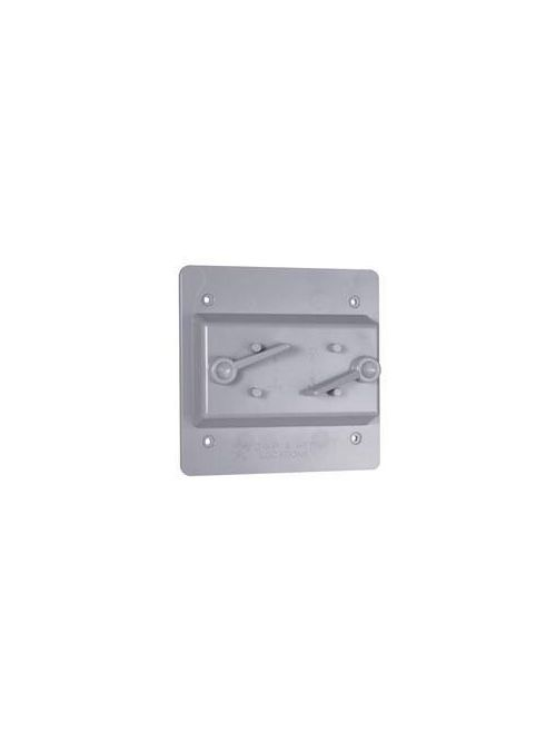 TayMac Corp PTC200GY 2-Gang Gray Polycarbonate Toggle Receptacle Cover
