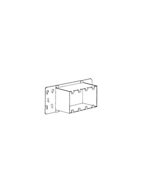 Arc-Co Electrical Boxes and Fittings 4GC-1/2 10-11/16 x 4-3/4 Inch 1/4 to 2 Inch Raise 4-Gang Device Box Adapter Cover