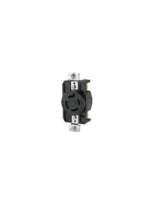 Eaton Wiring Devices CWL1520R 20 Amp 250 VAC 3-Pole 4-Wire NEMA L15-20 Black Locking Single Receptacle