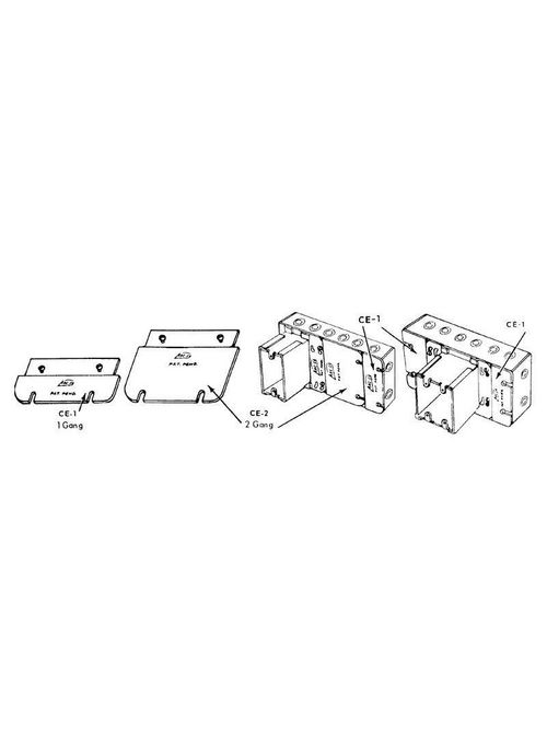 Arc-Co Electrical Boxes and Fittings CE-1 Gang Box Adapter Cover Extension