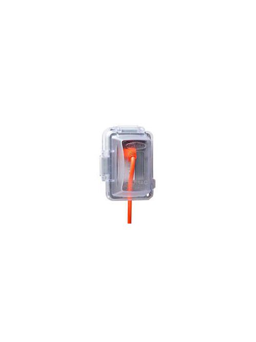 Raco MM420C 2.75 Inch Clear Polycarbonate Horizontal/Vertical Mount 1-Gang Weatherproof Box While-In-Use Device Box Cover