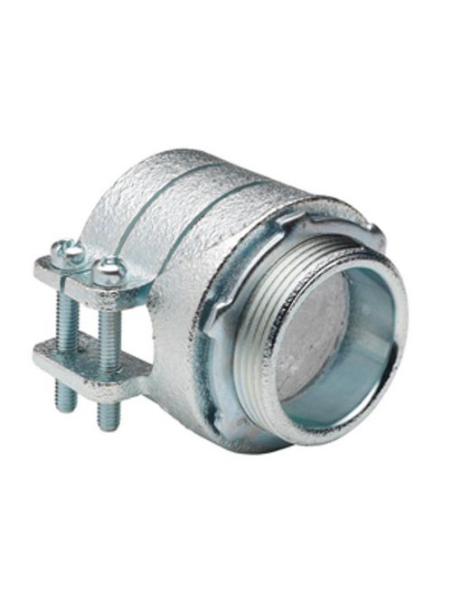 """Bridgeport 414 1-1/2"""" Flexible Metal Conduit Squeeze Connector, Malleable Iron"""