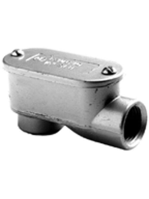 "Bridgeport 1029 1-1/2"" Type-LB Service Entrance Conduit Body, Aluminum"