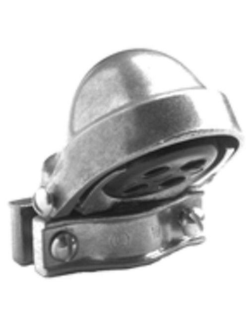 "Bridgeport 1255 1-1/2"" Clamp-On Service Entrance Cap, Aluminum"