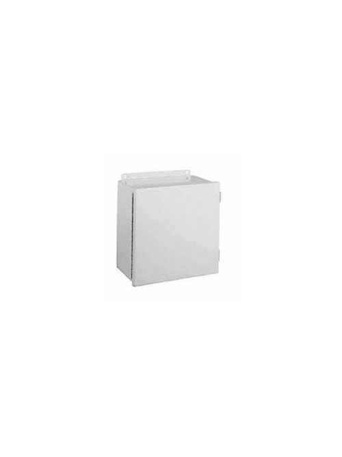 Wiegmann B040403CH 4 x 4 x 3 Inch Gray Steel NEMA 12/13 1-Door Unflanged Metallic Enclosure