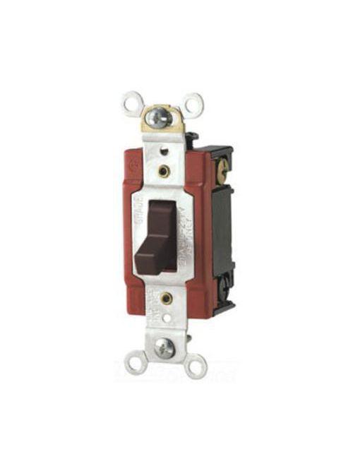 Arrow Hart Wiring AH1223B 20 Amp 120/277 VAC 3-Way Brown Toggle Switch