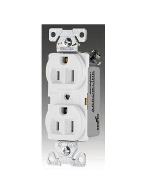 Eaton Wiring Devices CR15W 15 Amp 125 Volt Duplex Receptacle