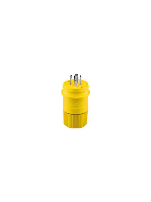 Arrow Hart Wiring L1530PW 30 Amp 250 VAC 3-Phase 3-Pole 4-Wire NEMA L15-30 Yellow Watertight Locking Plug