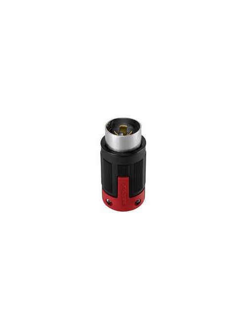 Arrow Hart Wiring CS8165EX 50 Amp 480 VAC 3-Phase 3-Pole 4-Wire Black and Red Nylon Non-NEMA Locking Plug