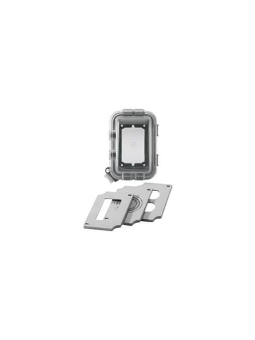 Eaton Wiring Devices WIU-1 1-Gang 3.25 Inch Gray Horizontal/Vertical Mount While-In-Use Weather Protective Cover
