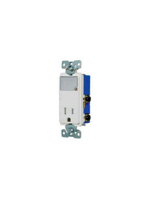 Arrow Hart Wiring TR7735LA-BOX 15 Amp 125 VAC 2-Pole 3-Wire NEMA 5-15R Light Almond LED Night Light with Receptacle