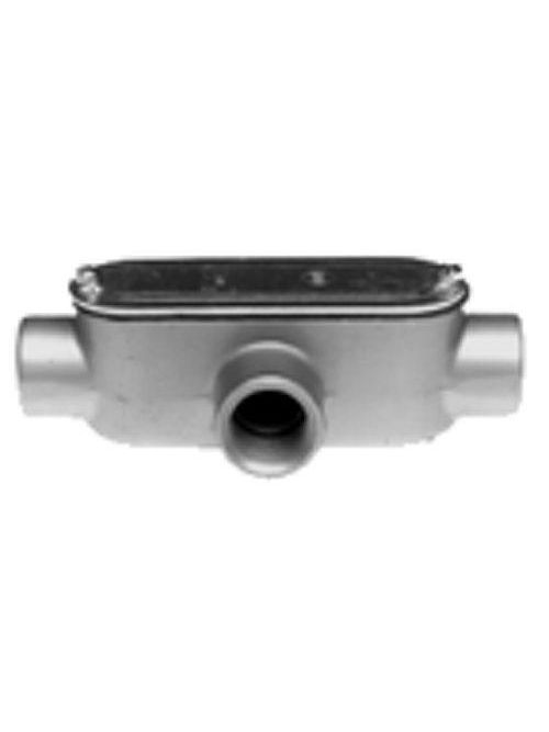 "Bridgeport T-45CG 1-1/2"" Type-T Conduit Body w/ Cover & Gasket, Aluminum"