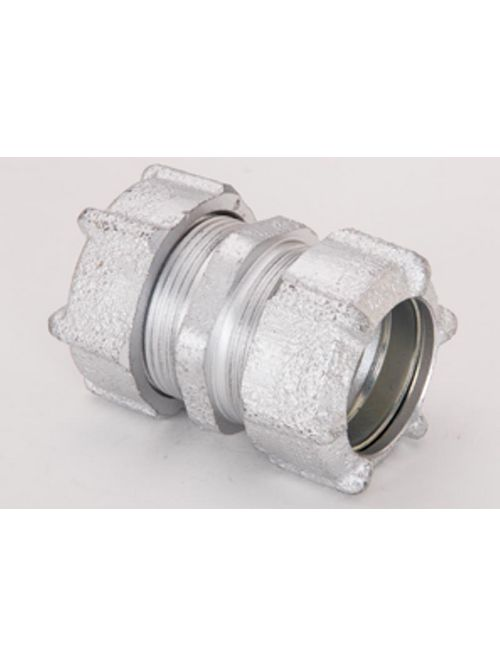 "Bridgeport 3101 3/4"" Rigid/IMC Conduit Compression Coupling, Malleable Iron"