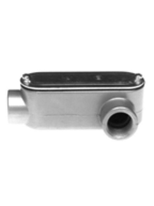 "Bridgeport LL-44CG 1-1/4"" Type-LL Conduit Body w/ Cover & Gasket, Aluminum"