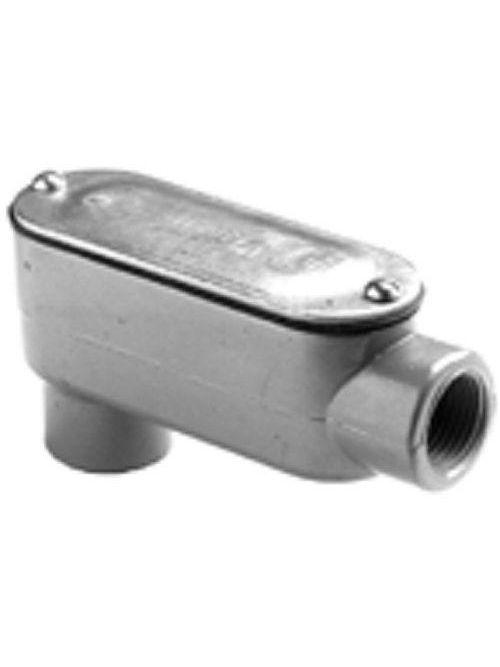 "Bridgeport LB-44CG 1-1/4"" Type-LB Conduit Body w/ Cover & Gasket, Aluminum"