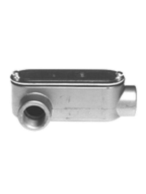 "Bridgeport LR-43CG 1"" Type-LR Conduit Body w/ Cover & Gasket, Aluminum"