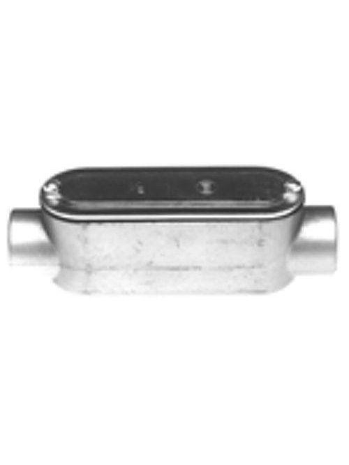 "Bridgeport C-41CG 1/2"" Type-C Conduit Body w/ Cover & Gasket, Aluminum"