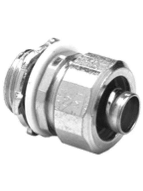 "Bridgeport 430-SLTI 1/2"" Liquidtight Straight Connector w/Insulated Throat, Steel"