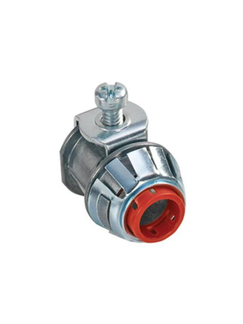 """Bridgeport SG38ASP 3/8"""" AC/MC Snap-In Connector, Insulated, Die Cast"""