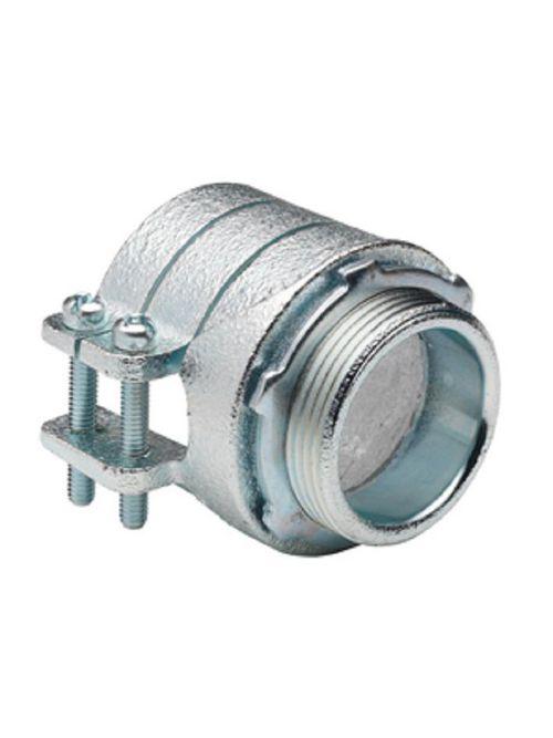 "Bridgeport 419-I 3-1/2"" Flexible Metal Conduit Squeeze Connector w/ Insulated Throat, Malleable Iron"