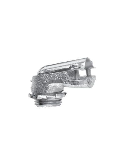 Crouse-Hinds Series 739 1 Inch Malleable Iron Non-Insulated Clamp Type 90 Degrees FMC Connector