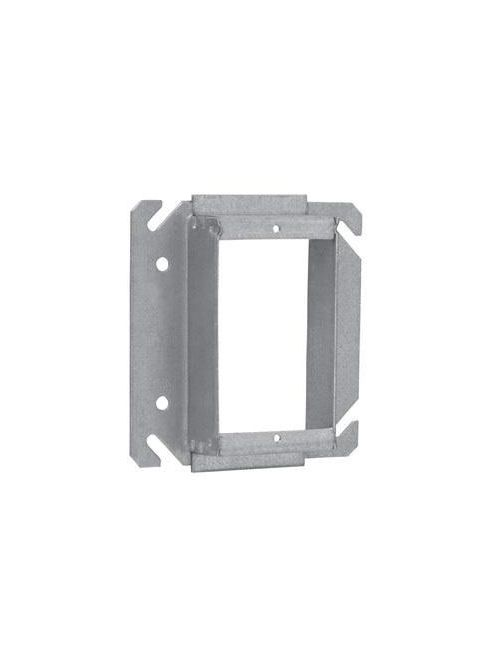 Crouse-Hinds Series TP526 4 Inch 1-1/4 Inch Raised Steel 1-Device Square Box Tile Wall Cover