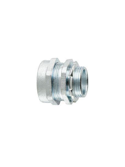 Crouse-Hinds Series CPR5 1-1/2 Inch Malleable Iron Non-Insulated Straight Compression Rigid Conduit Connector