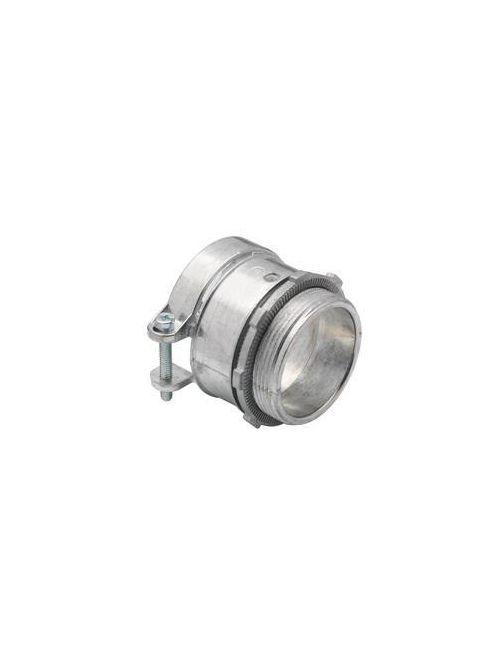 """Bridgeport 416-DC2 2"""" Flexible Metal Conduit Squeeze Connector, Zinc Die Cast"""