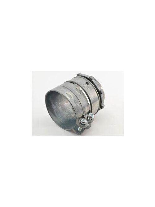 """Bridgeport 417-DC2 2-1/2"""" Flexible Metal Conduit Squeeze Connector, Zinc Die Cast"""