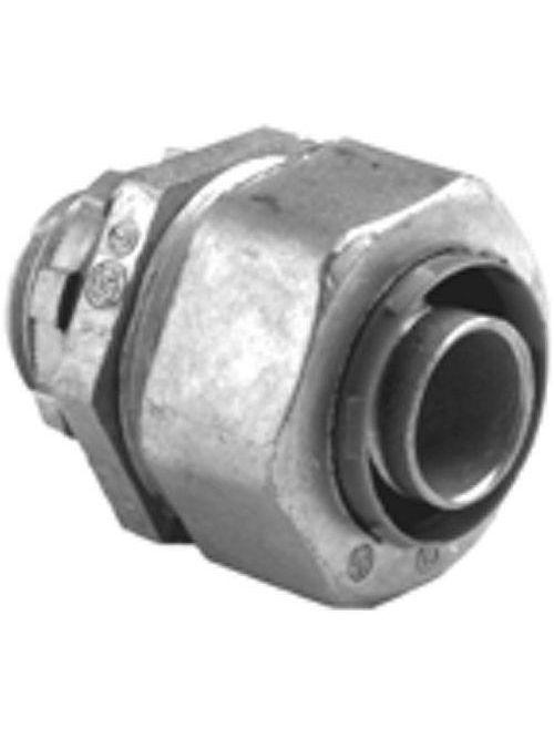 "Bridgeport 433-LT2 1-1/4"" Liquidtight Straight Connector, Zinc Die Cast"