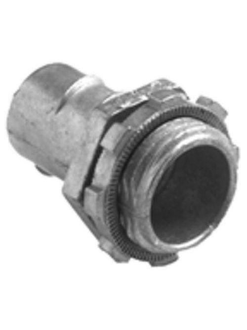 """Bridgeport 523-DC2 1-1/4"""" Flexible Metal Conduit Screw-In Connector, Zinc Die Cast"""