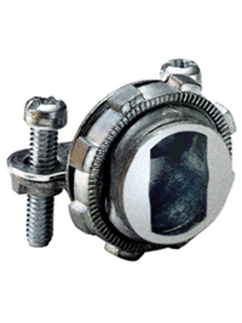 "Bridgeport 566-DC2 3/8"" Two-Screw, Strap Type MC/NM Connector, Zinc Die Cast. For connecting 14/4 to 10/3 Armored, Metal Clad Cable, or 14/2 or 12/2 NM-B Cable"