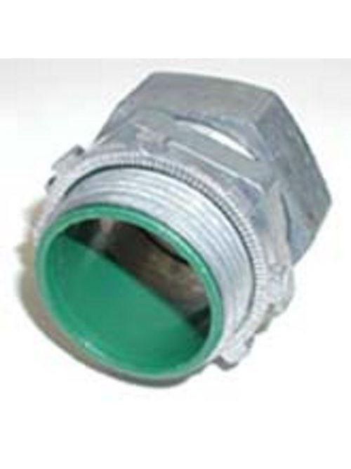 "Bridgeport 254-DCI2 1-1/2"" EMT Insulated Compression Connector, Die Cast"