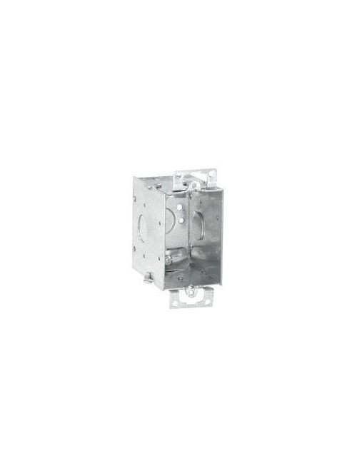 Crouse-Hinds Series TP674 3 x 2 x 2-3/4 Inch Steel Gangable Switch Box
