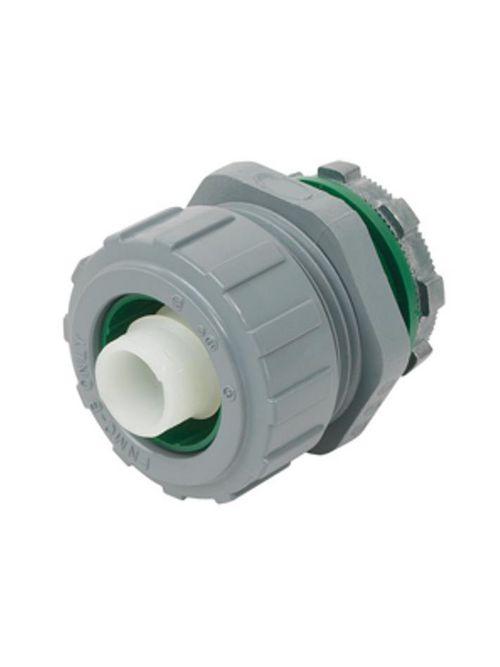 "Bridgeport 433-NMLT 1-1/4"" Liquidtight Straight Connector, Non-Metallic"