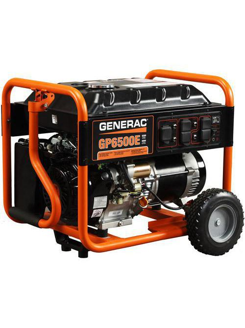 Generac 5941 6500 W 240 VAC 60 Hz Electric/Recoil Pull Start Portable Generator