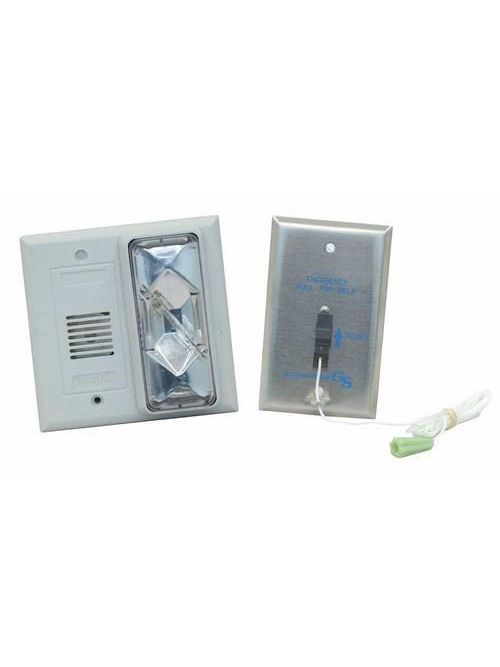 Edwards Signaling 7008B-N5 120 VAC 0.115 Amp 92 dB Clear Buzzer/Strobe Call for Assistance Kit