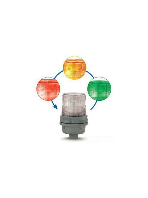 Edwards Signaling 125XBRIRGA24D 24 VDC 0.15 Amp Red/Green/Amber Polycarbonate LED Multi-Status Indicator Beacon