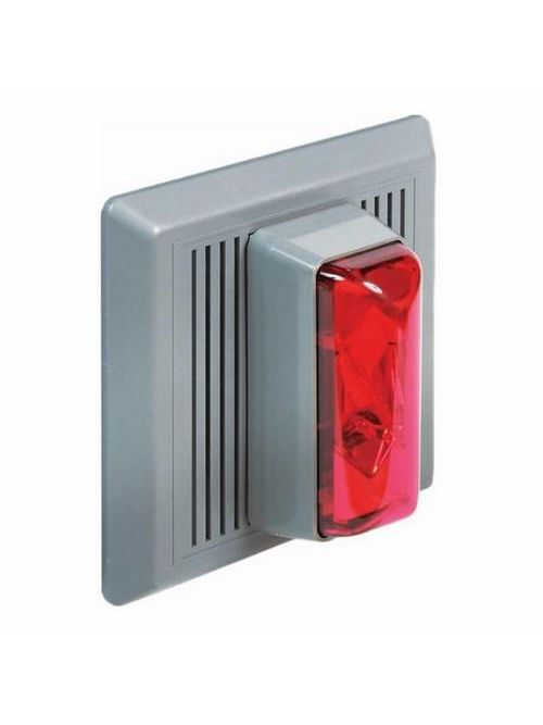 Edwards Signaling 868STRR-N5 120 VAC 0.033/0.115 Amp Red Thermoplastic Surface Mount Electronic Horn/Strobe Beacon