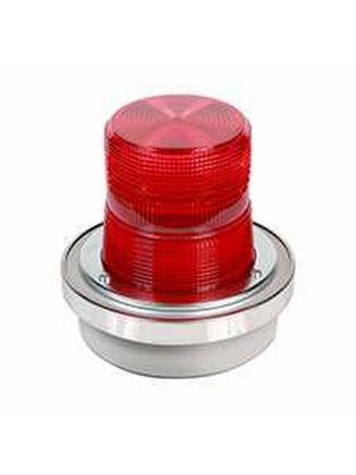 Edwards Signaling 50R-N5-40WH 120 VAC 0.3 Amp Red Polycarbonate Flashing Halogen Beacon