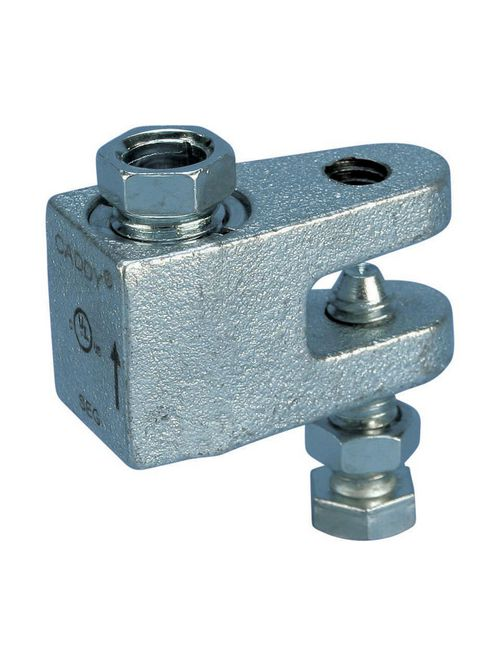 Caddy CRLB37EG 3/8 Inch Electrogalvanized Cast Iron Rod Lock Beam Clamp